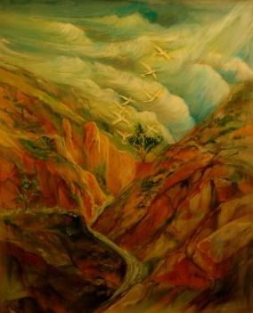 Arizona Canyon16 x20 Acrylic-poxy