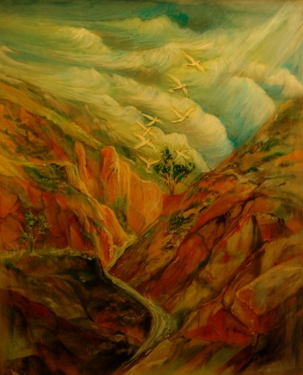 Arizona Canyon16 x20 Acrylic-poxy
