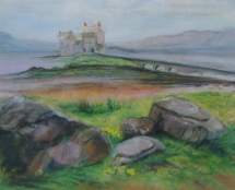 castie of the moors,16x20, price 450,pastel, on sanded paper.