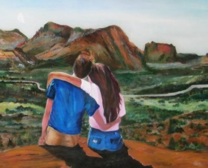Siblings in Arizona 24 x36 Acylic-poxy